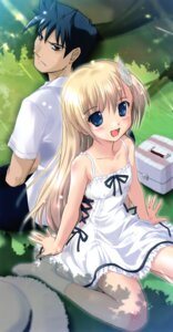 Rating: Safe Score: 24 Tags: dress komatsu_e-ji mislead_princess summer_dress thighhighs User: fairyren