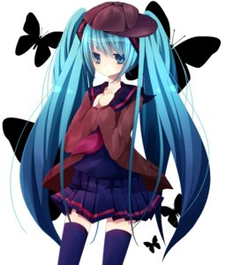 Rating: Safe Score: 24 Tags: fuyumaki hatsune_miku seifuku thighhighs vocaloid User: aihost