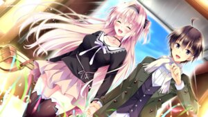 Rating: Questionable Score: 50 Tags: amaya_rei ensemble_(company) game_cg golden_marriage hayakawa_harui tachibana_nagisa thighhighs User: abdulaziz5