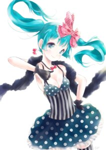Rating: Safe Score: 28 Tags: cleavage dress hatsune_miku kowiru see_through thighhighs vocaloid User: charunetra