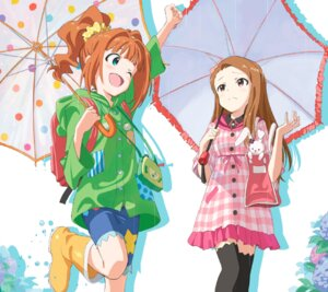 Rating: Safe Score: 31 Tags: disc_cover dress minase_iori takatsuki_yayoi the_idolm@ster thighhighs umbrella User: blooregardo