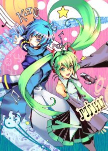 Rating: Safe Score: 7 Tags: hatsune_miku headphones kaito khanshin vocaloid User: yumichi-sama