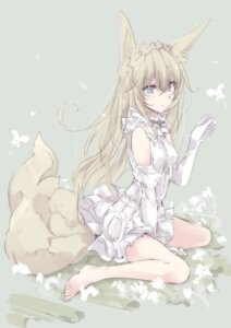 Rating: Safe Score: 100 Tags: animal_ears dress feet kitsune tail touma_kisa User: KazukiNanako