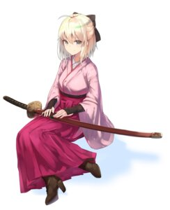 Rating: Safe Score: 41 Tags: fate/grand_order fate/stay_night haru_ato heels japanese_clothes sakura_saber sword User: nphuongsun93