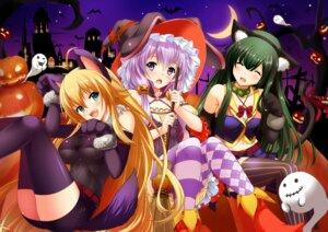 Rating: Safe Score: 40 Tags: animal_ears bug halloween nekomimi pantyhose tail thighhighs touhoku_zunko tsurumaki_maki voiceroid witch yuzuki_yukari User: Mr_GT