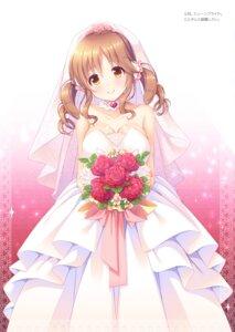 Rating: Safe Score: 21 Tags: cleavage dress mizukoshi_mayu the_idolm@ster the_idolm@ster_cinderella_girls totoki_airi wedding_dress User: kiyoe