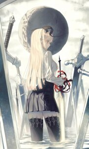 Rating: Safe Score: 19 Tags: horns sword the_card thighhighs wet User: Dreista