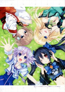 Rating: Questionable Score: 18 Tags: blanc choujigen_game_neptune kami_jigen_game_neptune_v neptune noire tsunako vert User: Radioactive