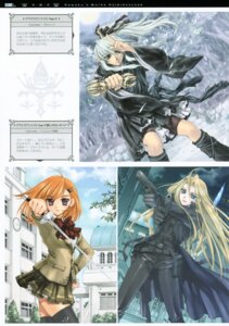 Rating: Safe Score: 8 Tags: aquarian_age gun kawaku seifuku sword thighhighs User: midzki