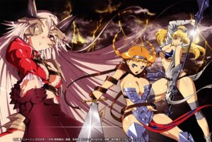 Rating: Questionable Score: 26 Tags: aldra armor cleavage elina eyepatch leina miyazawa_tsutomu queen's_blade sword thighhighs weapon User: narutoXgarcia