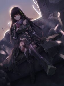 Rating: Safe Score: 47 Tags: armor girls_frontline m4a1_(girls_frontline) tagme thighhighs torn_clothes User: BattlequeenYume