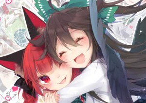 Rating: Safe Score: 22 Tags: animal_ears kaenbyou_rin reiuji_utsuho touhou toutenkou wings User: Mr_GT