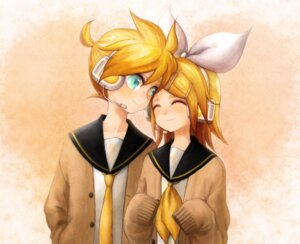 Rating: Safe Score: 6 Tags: kagamine_len kagamine_rin michi_ta_(masquerade) vocaloid User: charunetra