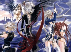 Rating: Safe Score: 4 Tags: abel_nightroad cleavage kyuujou_kiyo thighhighs trinity_blood User: Radioactive