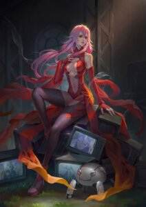 Rating: Safe Score: 22 Tags: cleavage guilty_crown no_bra thighhighs wenfei_ye yuzuriha_inori User: Spidey