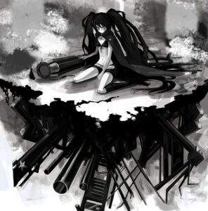Rating: Safe Score: 9 Tags: bikini_top black_rock_shooter black_rock_shooter_(character) chimo monochrome vocaloid User: Radioactive