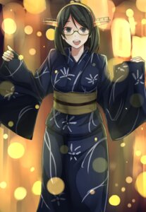Rating: Safe Score: 31 Tags: burai_yuuki kantai_collection kirishima_(kancolle) megane yukata User: Mr_GT
