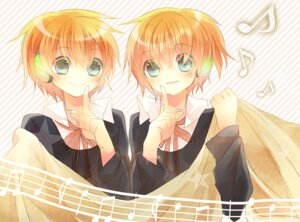 Rating: Safe Score: 9 Tags: headphones kagamine_len kagamine_rin vocaloid yamiya User: Mioka