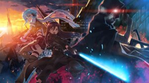 Rating: Safe Score: 105 Tags: ass bandages death_gun gun gun_gale_online kirito monster sinon studio_s.d.t. sword sword_art_online thighhighs wallpaper yuuki_tatsuya User: edogawaconan