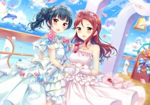 Rating: Safe Score: 19 Tags: dress hazuki_(sutasuta) love_live!_sunshine!! sakurauchi_riko tsushima_yoshiko wedding_dress User: Mr_GT
