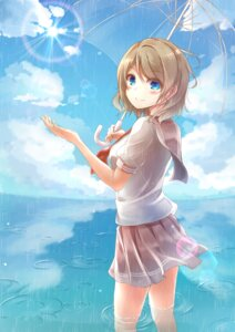 Rating: Safe Score: 30 Tags: love_live!_sunshine!! seifuku sonoko_neko umbrella watanabe_you wet User: mash