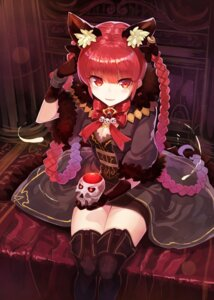 Rating: Safe Score: 70 Tags: animal_ears cleavage kaenbyou_rin rin_falcon thighhighs touhou User: Mr_GT
