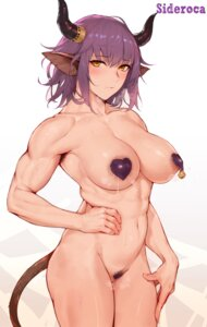 Rating: Questionable Score: 16 Tags: animal_ears areola arknights horns lactation maebari naked pasties pubic_hair pussy rosaline sideroca_(arknights) tail User: Genex