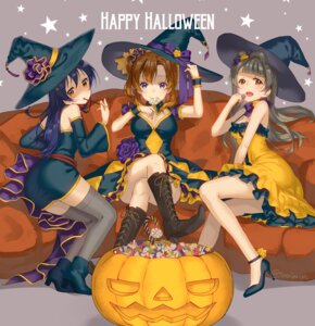 Rating: Safe Score: 33 Tags: ass cleavage dress halloween heels kousaka_honoka love_live! minami_kotori sonoda_umi thighhighs tomiwo witch User: Mr_GT