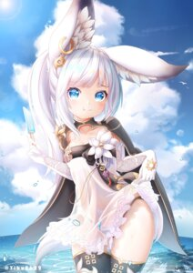 Rating: Questionable Score: 56 Tags: animal_ears blade_&_soul loli lyn_(blade_&_soul) pantsu see_through skirt_lift tagme thighhighs User: BattlequeenYume