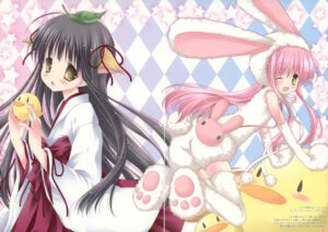 Rating: Safe Score: 14 Tags: animal_ears bunny_ears fixme gap miko nostalgic_barbie okazaki_anko tail thighhighs User: syaoran-kun