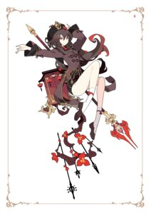 Rating: Questionable Score: 21 Tags: asian_clothes genshin_impact hu_tao ideolo weapon User: Dreista
