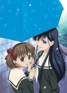Rating: Safe Score: 9 Tags: fukuzawa_yumi maria-sama_ga_miteru matsushima_akira ogasawara_sachiko seifuku umbrella wet User: saemonnokami