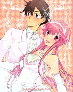Rating: Safe Score: 14 Tags: amano_yukiteru dress gasai_yuno kouga_yun mirai_nikki wedding_dress User: kaitoucoon