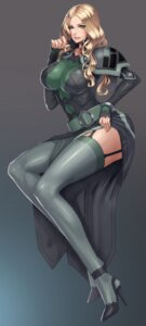 Rating: Questionable Score: 64 Tags: armor bodysuit border_break damegane heels stockings thighhighs User: mash