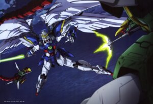 Rating: Safe Score: 8 Tags: gun gundam gundam_wing mecha suzuki_takuya sword wings User: drop