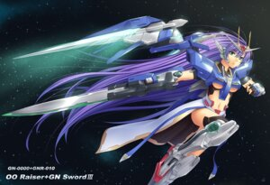 Rating: Safe Score: 24 Tags: 00_raiser athrun1120 gundam gundam_00 mecha mecha_musume sword thighhighs underboob User: Radioactive