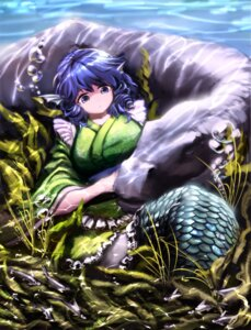 Rating: Safe Score: 13 Tags: animal_ears hijiwryyyyy japanese_clothes mermaid monster_girl touhou wakasagihime User: Mr_GT