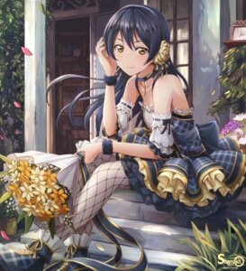 Rating: Safe Score: 75 Tags: dress love_live! shamakho sonoda_umi thighhighs User: Mr_GT