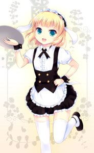 Rating: Safe Score: 46 Tags: cetera gochuumon_wa_usagi_desu_ka? kirima_sharo maid thighhighs User: 椎名深夏