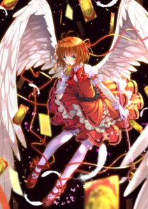Rating: Safe Score: 43 Tags: card_captor_sakura dress heels kinomoto_sakura swordsouls thighhighs weapon wings User: SubaruSumeragi