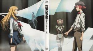 Rating: Safe Score: 5 Tags: agemaki_wako disc_cover endou_sarina itou_yoshiyuki seifuku shindou_sugata star_driver tsunashi_takuto User: Aurelia