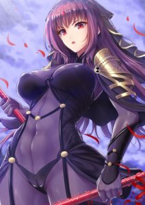Rating: Questionable Score: 39 Tags: armor bodysuit cameltoe fate/grand_order scathach_(fate/grand_order) tagme weapon youshuu User: Mr_GT