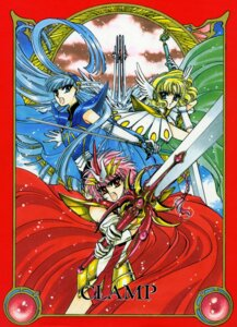 Rating: Safe Score: 6 Tags: armor clamp hououji_fuu magic_knight_rayearth ryuuzaki_umi shidou_hikaru sword User: MDGeist