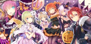 Rating: Safe Score: 24 Tags: cleavage fate/grand_order fate/stay_night halloween horns kiryuu_mina lancer_(fate/extra_ccc) pantyhose pointy_ears saber saber_lily shielder_(fate/grand_order) wings witch User: Mr_GT