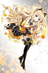 Rating: Safe Score: 67 Tags: cocoon_(loveririn) seeu stockings thighhighs vocaloid User: 椎名深夏