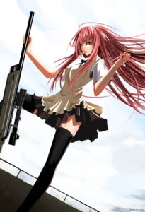 Rating: Safe Score: 60 Tags: gun maisaki seifuku takanashi_souta thighhighs trap working!! User: fairyren