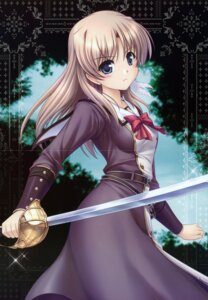 Rating: Safe Score: 29 Tags: aiyoku_no_eustia august bekkankou crease fione_silvaria fixme sword User: petopeto