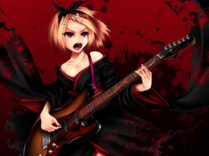 Rating: Safe Score: 13 Tags: guitar kagamine_rin tamajam vocaloid wallpaper User: charunetra