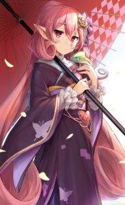 Rating: Safe Score: 17 Tags: kimono neneka_(princess_connect) pointy_ears princess_connect princess_connect!_re:dive syuichi umbrella User: yanis
