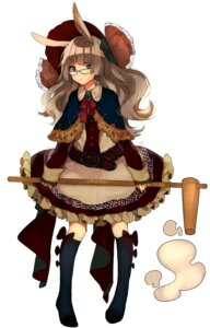 Rating: Safe Score: 32 Tags: aa_(novanova) animal_ears bunny_ears dress megane thighhighs User: KazukiNanako